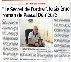 ARTICLE LA PROVENCE 09.15